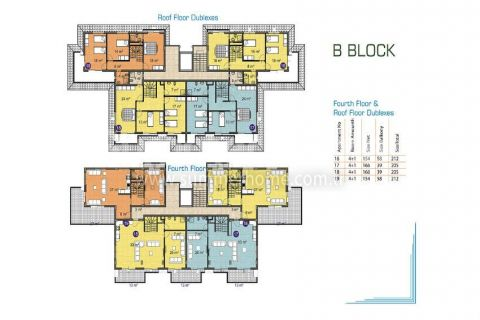 Pleasant Apartments and Penthouses in Alanya - Property Plans - 17