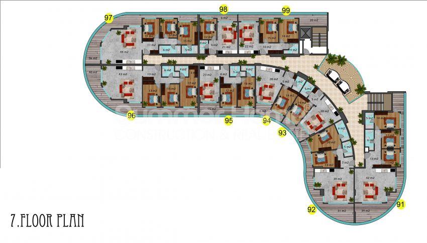 阿拉尼亚马赫穆特拉尔的豪华公寓,有山景和海景 plan - 2
