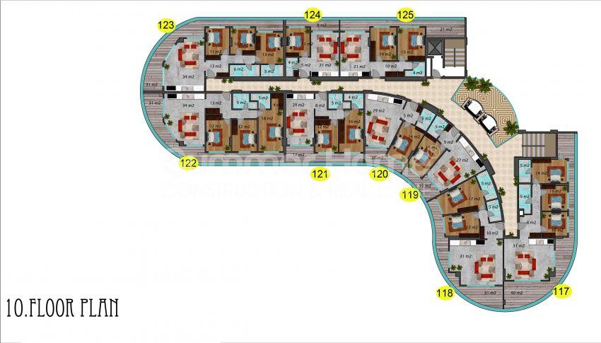 阿拉尼亚马赫穆特拉尔的豪华公寓,有山景和海景 plan - 3