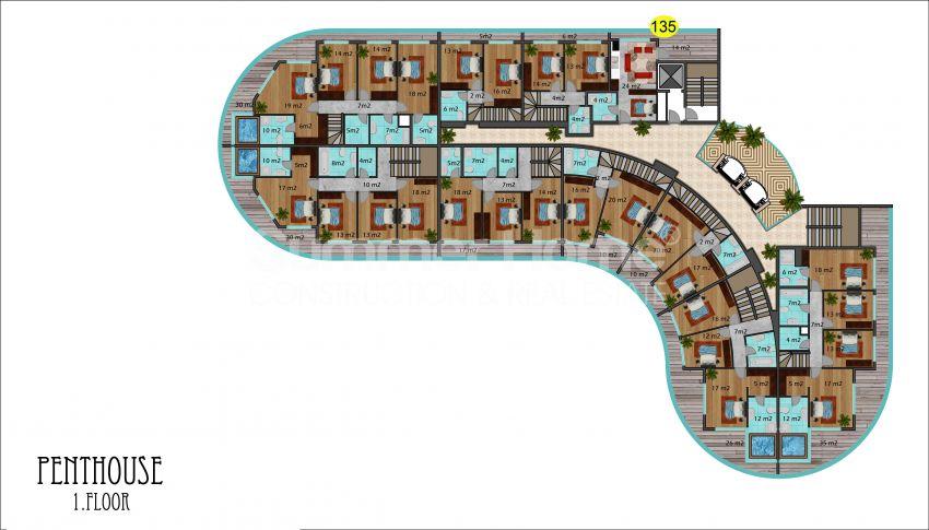 阿拉尼亚马赫穆特拉尔的豪华公寓,有山景和海景 plan - 4