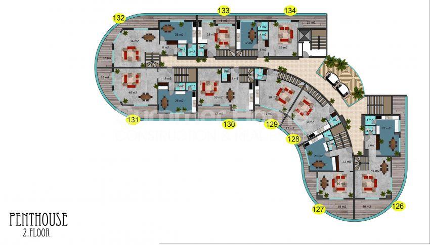 阿拉尼亚马赫穆特拉尔的豪华公寓,有山景和海景 plan - 5