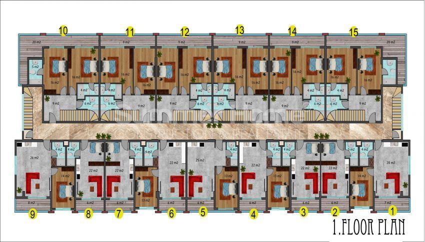 阿拉尼亚马赫穆特拉尔的豪华公寓,有山景和海景 plan - 6