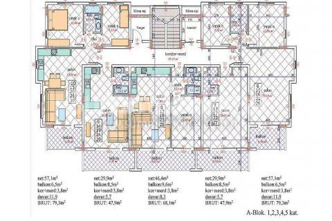 Nádherný penthouse v Orion III v Alanyi - Plány nehnuteľností - 21