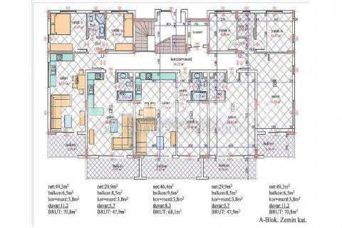 Nádherný penthouse v Orion III v Alanyi - Plány nehnuteľností - 22