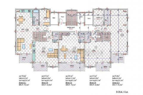 Nádherný penthouse v Orion III v Alanyi - Plány nehnuteľností - 23
