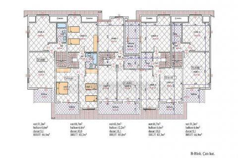 Nádherný penthouse v Orion III v Alanyi - Plány nehnuteľností - 24