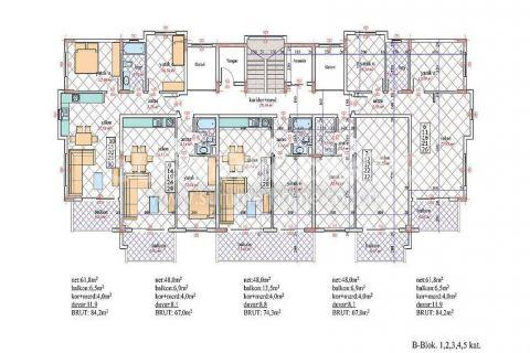 Nádherný penthouse v Orion III v Alanyi - Plány nehnuteľností - 25
