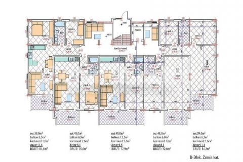 Nádherný penthouse v Orion III v Alanyi - Plány nehnuteľností - 26