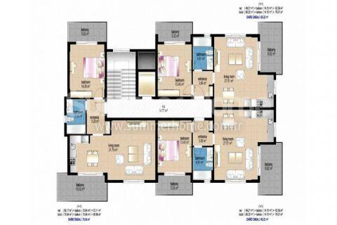 Útulné 2-izbové byty na predaj v Alanyi - Plány nehnuteľností - 12