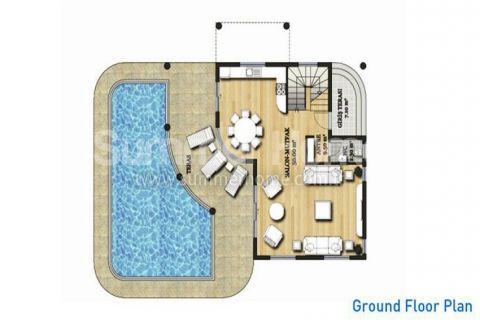 Large Detached Villas in Belek - Property Plans - 26