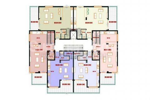 Výhodné apartmány na predaj v Alanyi - Plány nehnuteľností - 12