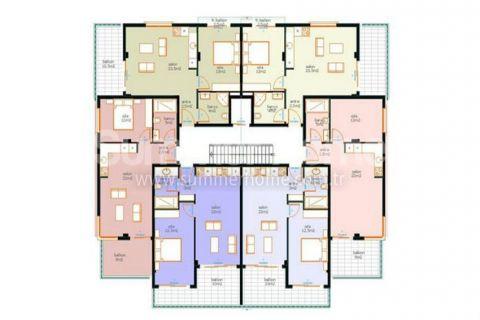 Výhodné apartmány na predaj v Alanyi - Plány nehnuteľností - 13