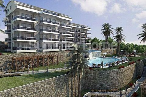 Exclusive Sea View Apartments Near the Beach in Konakli, Alanya