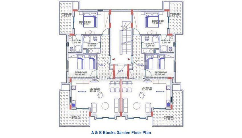 阿拉尼亚科纳克里的专属海景公寓,邻近海滩 plan - 2