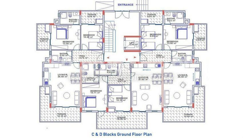 阿拉尼亚科纳克里的专属海景公寓,邻近海滩 plan - 8