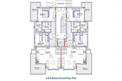 Exkluzívne apartmány s výhľadom na more v Alanyi - Plány nehnuteľností - 15