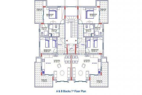 Exkluzívne apartmány s výhľadom na more v Alanyi - Plány nehnuteľností - 16
