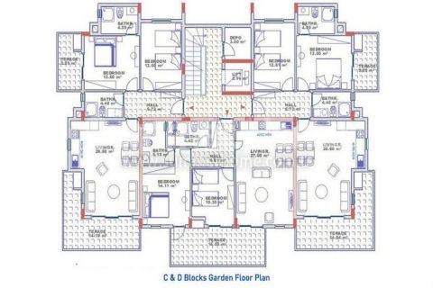 Эксклюзивные квартиры с видом на море в Конаклы - Планировка  - 19