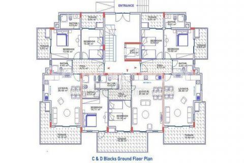 Exkluzívne apartmány s výhľadom na more v Alanyi - Plány nehnuteľností - 20