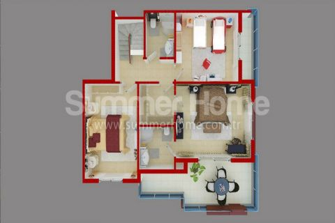 Stylish Apartments for Sale in Alanya - Property Plans - 35
