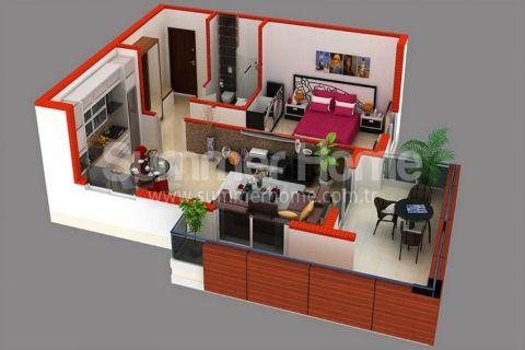 Supermoderné apartmány na predaj v Alanyi - Plány nehnuteľností - 37