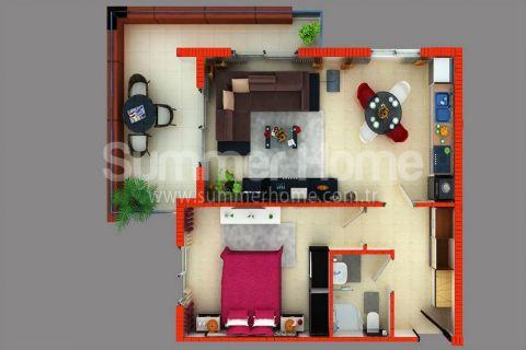 Supermoderné apartmány na predaj v Alanyi - Plány nehnuteľností - 38