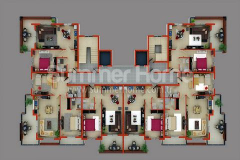 Supermoderné apartmány na predaj v Alanyi - Plány nehnuteľností - 39