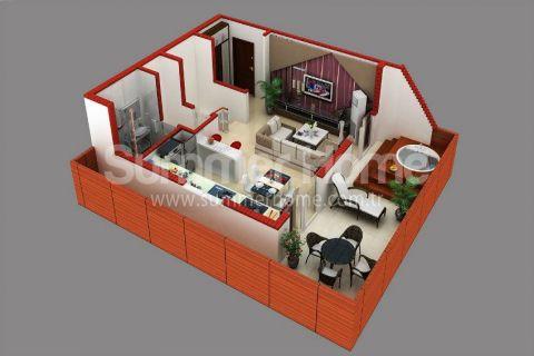 Supermoderné apartmány na predaj v Alanyi - Plány nehnuteľností - 41