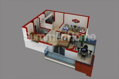 Supermoderné apartmány na predaj v Alanyi - Plány nehnuteľností - 43