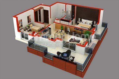 Supermoderné apartmány na predaj v Alanyi - Plány nehnuteľností - 44