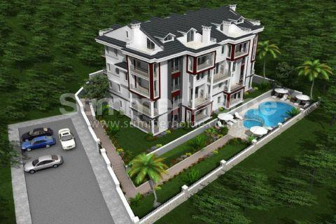 Stilvolle Wohnungen in ruhiger Lage zum Verkauf in Fethiye