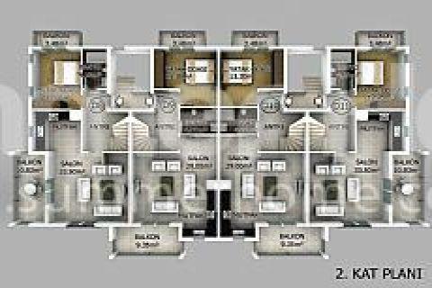Превосходные апартаменты в Фетхие - Планировка  - 14