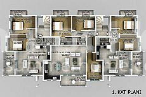 Превосходные апартаменты в Фетхие - Планировка  - 18
