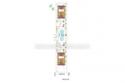 Veľké apartmány s výhľadom na more v Alanyi - Plány nehnuteľností - 35