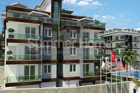 Klasse appartementen in nieuw complex dichtbij het strand in Alanya