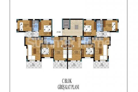 Honosné apartmány na predaj v Antalyi - Plány nehnuteľností - 14