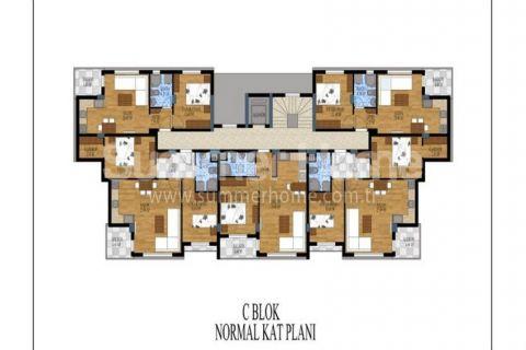 Honosné apartmány na predaj v Antalyi - Plány nehnuteľností - 15