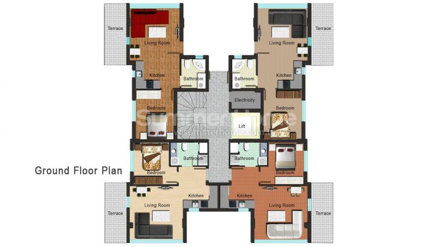 安塔利亚开发区的新公寓 plan - 1