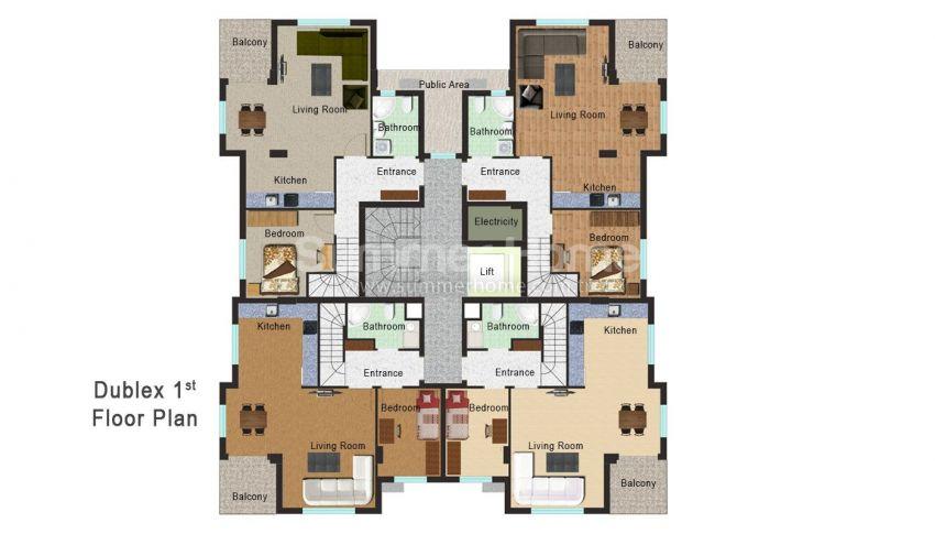 安塔利亚开发区的新公寓 plan - 3