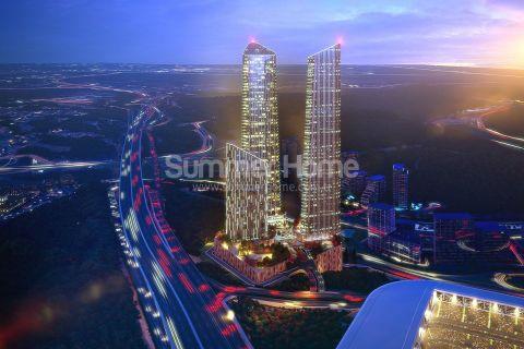 Luksuriøst skyskraperprosjekt med moderne leiligheter i Istanbul