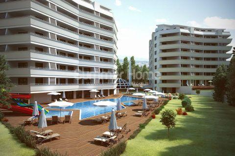 Úplne nový komplex s luxusnými prvotriednymi apartmánmi v časti Avsallar, Alanya
