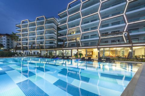 Modernly Designed Apartments with Sea View in Alanya