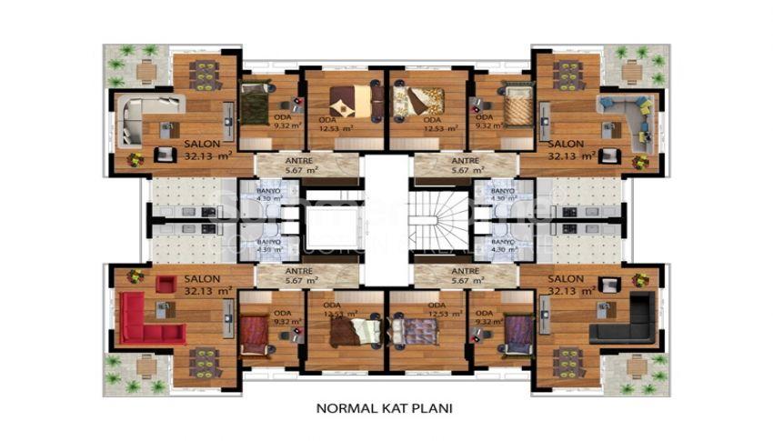 安塔利亚孔亚阿鲁提(konyaalti)高档住宅区的豪华公寓 plan - 1