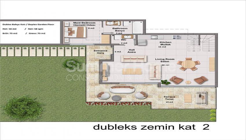 靠近土耳其博德鲁姆市中心的豪华海景公寓 plan - 1