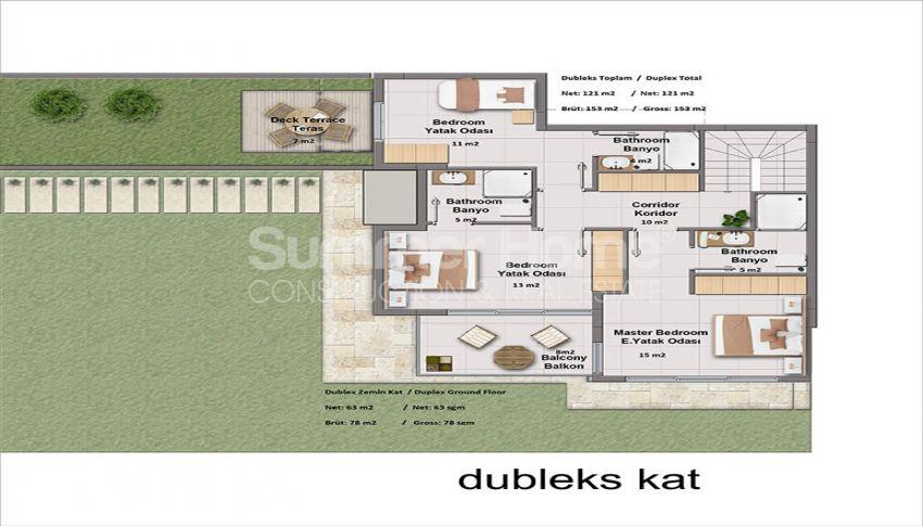 靠近土耳其博德鲁姆市中心的豪华海景公寓 plan - 2