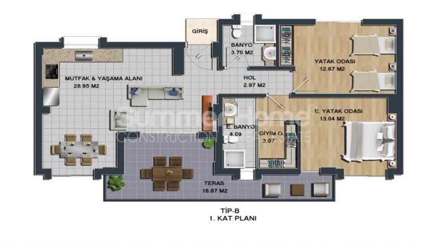 土耳其博德鲁姆的全新海景公寓,拥有理想的地理位置 plan - 1