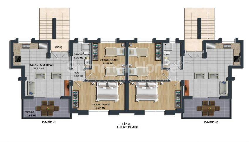 土耳其博德鲁姆的全新海景公寓,拥有理想的地理位置 plan - 2