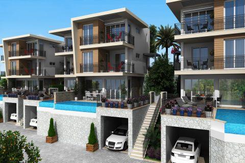 Eksklusive villaer med havutsikt og spesielle infinity pool i Bodrum