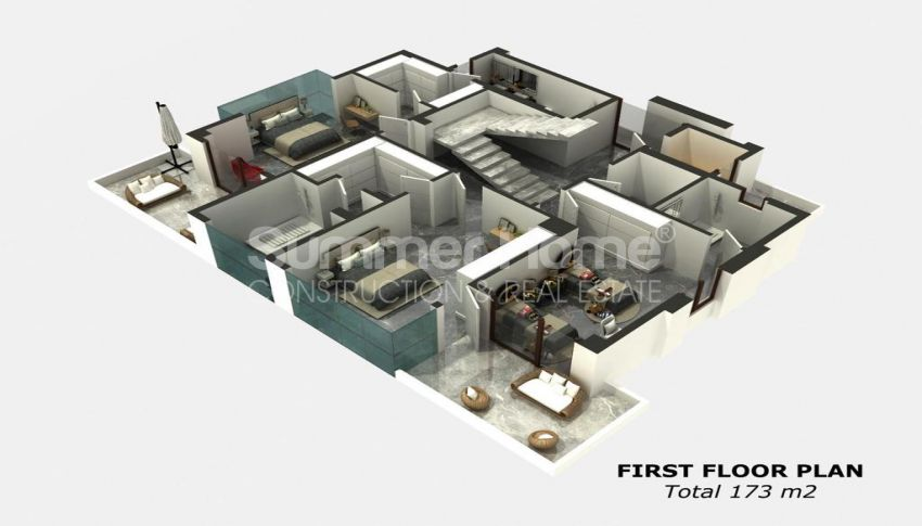 Summer Bliss Villas with Beautiful View in Alanya plan - 3