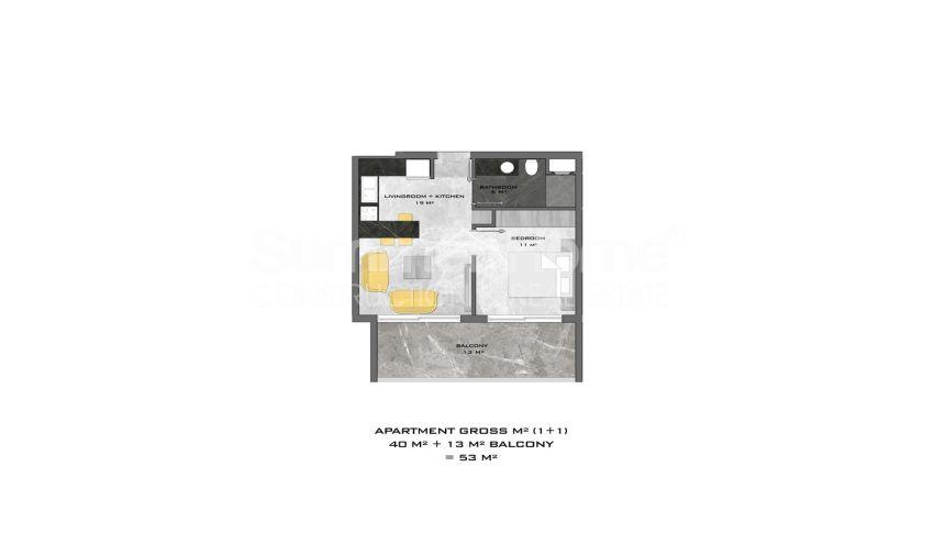 阿拉尼亚中心的全新公寓,位置理想 plan - 2
